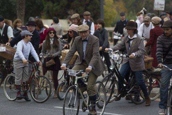 Bicis clásicas en el centro de Valencia