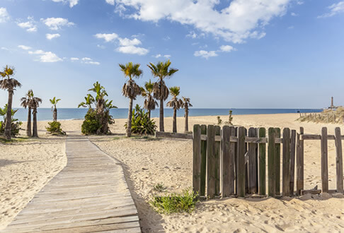 valencia playa autocaravana